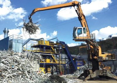 2. Febrero - Planta de trituración y selección de aluminio y chatarra ligera