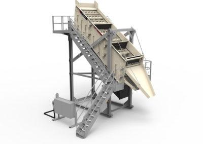 Maquinaria estática para la trituración y cribado de áridos y minería