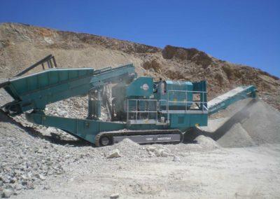 Maquinaria para trituración secundaria de áridos y minería