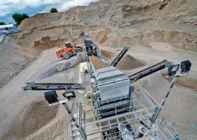 Maquinaria para proceso de lavado en el tratamiento de áridos y minería