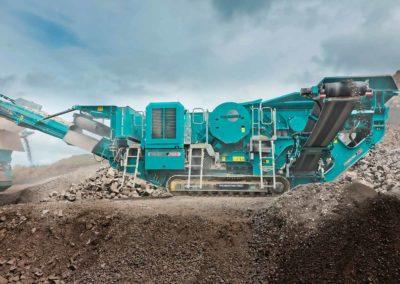 Maquinaria para trituración primaria de áridos y minería (machaqueo)