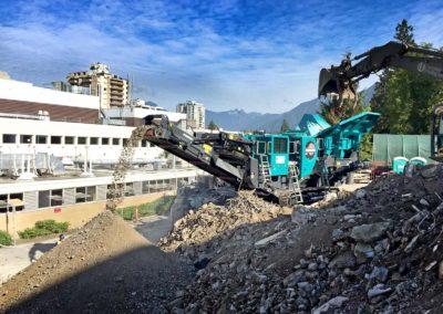 Maquinaria para el reciclaje de RCD (residuos de construcción y demolición)