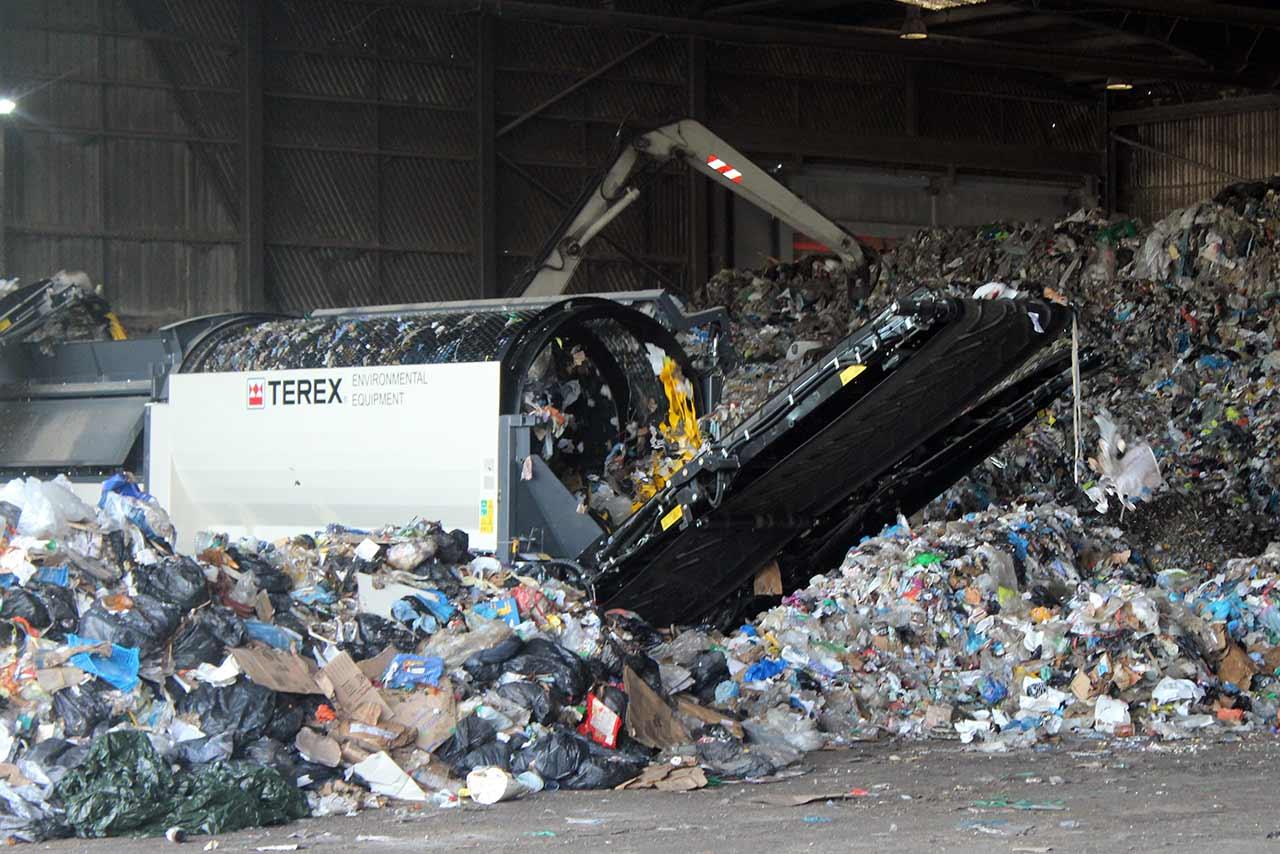 Maquinaria para reciclaje de basura industrial